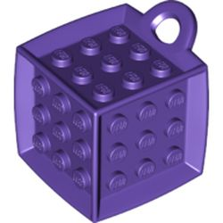 LEGO part 69182 Die - 6 Sided with 3 x 3 Centre Studs, and Ring (DOTS) in Medium Lilac/ Dark Purple