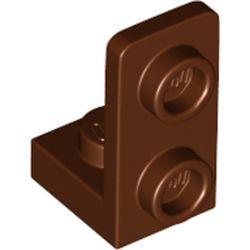 LEGO part 73825 Bracket 1 x 1 - 1 x 2 Inverted in Reddish Brown