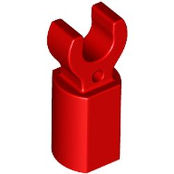 LEGO part 44873 Bar Holder with Clip in Bright Red/ Red
