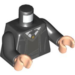 LEGO part 973c03h02pr5542 MINI UPPER PART, NO. 5542 in Black
