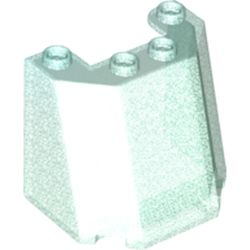 LEGO part 84954 Windscreen 3 x 4 x 3 in Transparent Blue with Opalescence/ Satin Trans-Light Blue