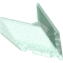 LEGO part 22483 Windscreen 6 x 4 x 1 1/3 Pointed in Transparent Blue with Opalescence/ Satin Trans-Light Blue