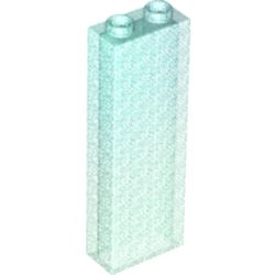 LEGO part 46212 Brick 1 x 2 x 5 without Side Supports in Transparent Blue with Opalescence/ Satin Trans-Light Blue