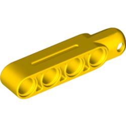 LEGO part 31794 Technic Steering Arm 5 x 1 with Towball Socket (Type2) in Bright Yellow/ Yellow