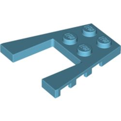LEGO part 41822 Wedge Plate 4 x 4 with 2 x 2 Cutout in Medium Azure