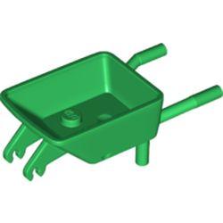 LEGO part 65411 Equipment Wheelbarrow in Dark Green/ Green