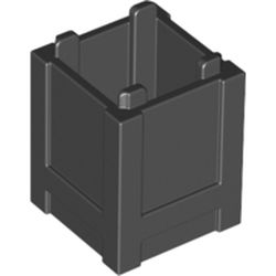 LEGO part 61780 Container Box 2 x 2 x 2 - Top Opening in Black