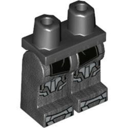 LEGO part 970c00pr2124 MINI LOWER PART, NO. 2124 in Titanium Metallic/ Pearl Dark Gray