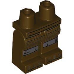 LEGO part 970c00pr2150 MINI LOWER PART, NO. 2150 in Dark Brown