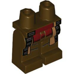 LEGO part 970c00pr2126 MINI LOWER PART, NO. 2126 in Dark Brown