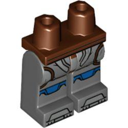 LEGO part 970x192pr2135 MINI LOWER PART, NO. 2135 in Dark Stone Grey / Dark Bluish Gray
