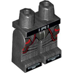LEGO part 970c00pr2136 MINI LOWER PART, NO. 2136 in Titanium Metallic/ Pearl Dark Gray