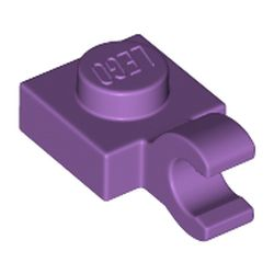 LEGO part 52738 Plate Special 1 x 1 with Clip Horizontal [Thick Open O Clip] in Medium Lavender