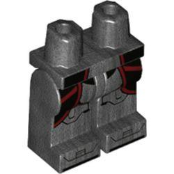 LEGO part 970c00pr2120 MINI LOWER PART, NO. 2120 in Titanium Metallic/ Pearl Dark Gray
