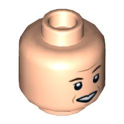 LEGO part 3626cpr3565 MINI HEAD, NO. 3565 in Light Nougat