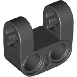 LEGO part 69819 Technic Axle and Pin Connector Perpendicular Double Split [Reinforced] in Black