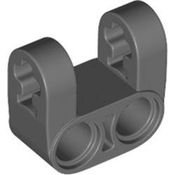 LEGO part 69819 Technic Axle and Pin Connector Perpendicular Double Split [Reinforced] in Dark Stone Grey / Dark Bluish Gray