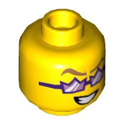 LEGO part 3626cpr3539 MINI HEAD, NO. 3539 in Bright Yellow/ Yellow