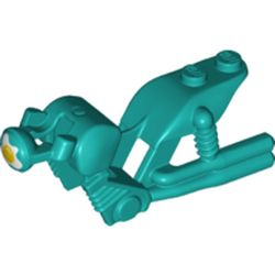 LEGO part 75537pr0020 Fairing, Motorcycle, Vintage with Exhausts and Egg HEadlight Print in Bright Bluish Green/ Dark Turquoise