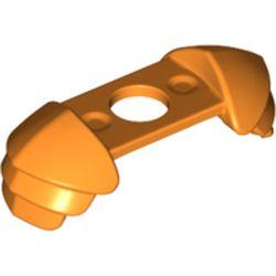 LEGO part 37614 Minifig Neckwear Shoulder Guards in Bright Orange/ Orange