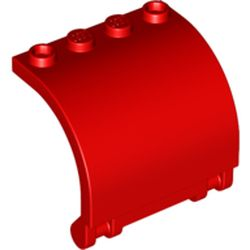 LEGO part 18910 Hinge Panel 3 x 4 x 3 Curved in Bright Red/ Red