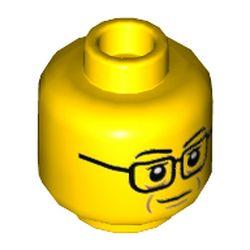 LEGO part 3626cpr3490 MINI HEAD, NO. 3490 in Bright Yellow/ Yellow