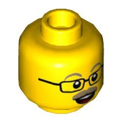 LEGO part 3626cpr3491 MINI HEAD, NO. 3491 in Bright Yellow/ Yellow