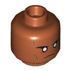 LEGO part 3626cpr3558 MINI HEAD, NO. 3558 in Dark Orange