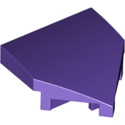 LEGO part 66956 Slope Curved 2 x 2 with Stud Notches in Medium Lilac/ Dark Purple