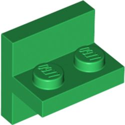 LEGO part 41682 Plate Special Bracket 2 x 2 with 1 x 2 Vertical Studs in Dark Green/ Green