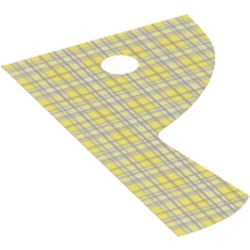 LEGO part 79417 Curtain, Right, Blue Checked Print in White