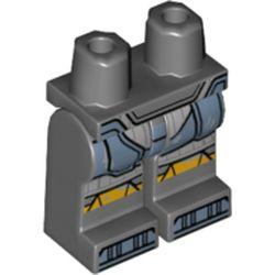 LEGO part 970c00pr2151 MINI LOWER PART, NO. 2151 in Dark Stone Grey / Dark Bluish Gray
