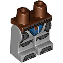 LEGO part 970x192pr2137 MINI LOWER PART, NO. 2137 in Medium Stone Grey/ Light Bluish Gray