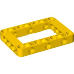 LEGO part 64179 Technic Beam Frame 5 x 7 Open Center Thick in Bright Yellow/ Yellow