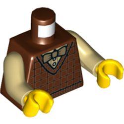 LEGO part 973c26h01pr5669 MINI UPPER PART, NO. 5669 in Reddish Brown
