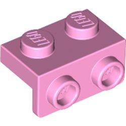LEGO part 99781 Bracket 1 x 2 - 1 x 2 in Light Purple/ Bright Pink