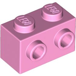 LEGO part 11211 Brick Special 1 x 2 with Studs on 1 Side in Light Purple/ Bright Pink