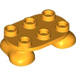 LEGO part 66859 Feet, 2 x 3 x 2/3 with 6 Studs on Top in Flame Yellowish Orange/ Bright Light Orange