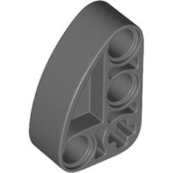 LEGO part 71708 Technic Beam 2 x 3 L-Shape with Quarter Ellipse Thick in Dark Stone Grey / Dark Bluish Gray