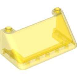 LEGO part 92583 Windscreen 3 x 6 x 2 in Transparent Yellow/ Trans-Yellow