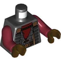 LEGO part 973c10h07pr5689 MINI UPPER PART, NO. 5689 in Black
