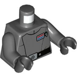 LEGO part 973c12h03pr5691 MINI UPPER PART, NO. 5691 in Dark Stone Grey / Dark Bluish Gray