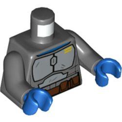 LEGO part 973c12h28pr5714 MINI UPPER PART, NO. 5714 in Dark Stone Grey / Dark Bluish Gray