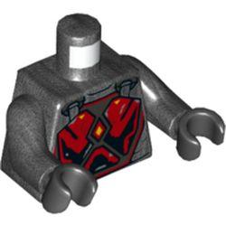 LEGO part 973c47h03pr5715 MINI UPPER PART, NO. 5715 in Titanium Metallic/ Pearl Dark Gray