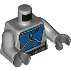 LEGO part 973c14h12pr5716 MINI UPPER PART, NO. 5716 in Medium Stone Grey/ Light Bluish Gray