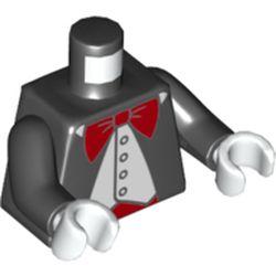 LEGO part 973c03h27pr5717 MINI UPPER PART, NO. 5717 in Black