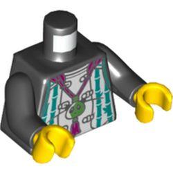 LEGO part 973pr5719c01 MINI UPPER PART, NO. 5719 in Black