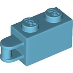 LEGO part 34816 Brick Special 1 x 2 with Vertical Closed Handle on Edge in Medium Azure
