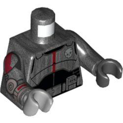 LEGO part 973f30pr5686 MINI UPPER PART, NO. 5686 in Titanium Metallic/ Pearl Dark Gray
