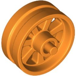LEGO part 50862 Wheel 15 x 6 City Motorcycle in Bright Orange/ Orange